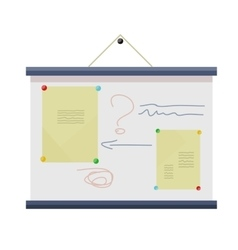 Whiteboard with Information vector image
