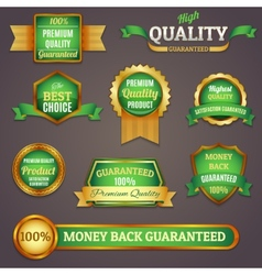 Colored quality labels set vector image vector image