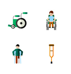 Flat icon handicapped set of stand equipment vector