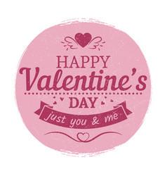 grunge vintage valentines day label - love card vector image