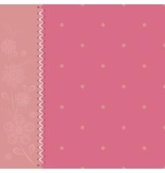 polka dot pink vector image vector image