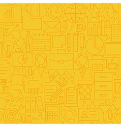 Thin Yellow Office Business Line Seamless Pattern vector image vector image