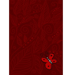 Butterfly on Red vector image vector image