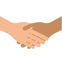 handshake hands business greeting vector image