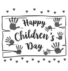 Collection hand draw children day background vector