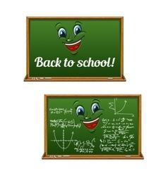 Green chalkboards for Back to School design vector image