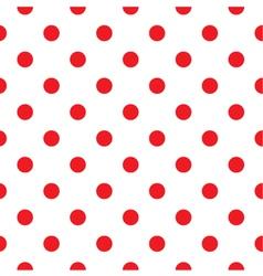 Red polka dot seamless pattern design vector image vector image
