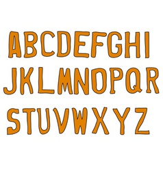 street letters vector image