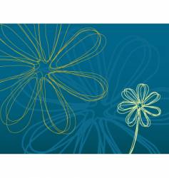 teal flower power vector image