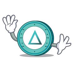 waving salt coin character cartoon vector image