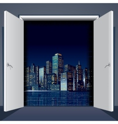 Door To City vector image vector image