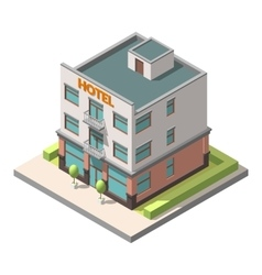 Isometric representing hotel or hostel vector