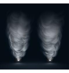 White Smoke vector image