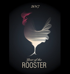 2017 year of the rooster-01 vector image