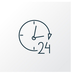24 hour service icon line symbol premium quality vector image