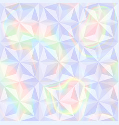 Abstract holographic geometric seamless pattern vector