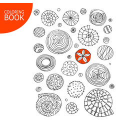 abstract spirals and circles sketch for your vector image vector image
