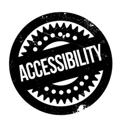 Accessibility rubber stamp vector