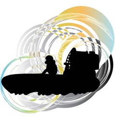 Airboat vector image