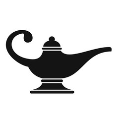 Aladin lamp icon simple style vector