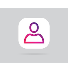 App Icon Template Gradient Fresh Color vector image