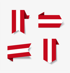 Austrian flag stickers and labels vector