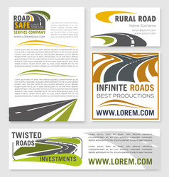 banners for road construction investment vector image