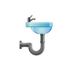 Bathroom sink icon vector