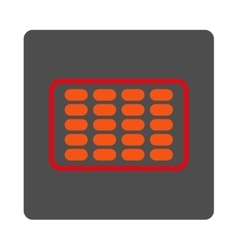 Blister Rounded Square Button vector