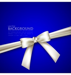 blue background with white bow vector image
