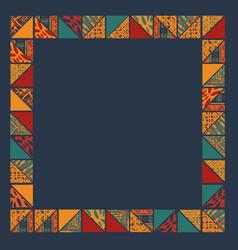 Boho abstract frame vector