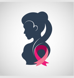 Breast cancer logo icon design vector