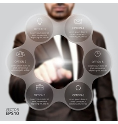 Businessman pressing button vector image