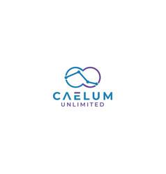 Caelum unlimited logo design vector