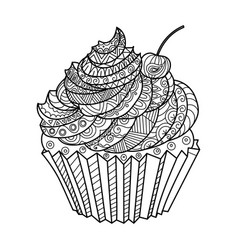 cake coloring book vector image