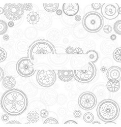 cogs and gears background vector image