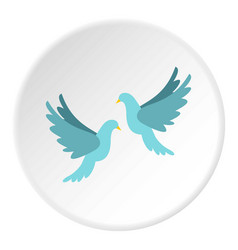 Doves icon circle vector