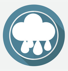 drop icon on white circle with a long shadow vector image