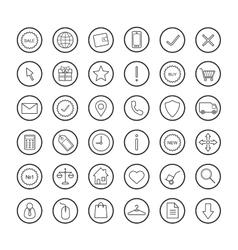 E-commerce Online shop linear icons set vector image