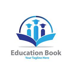 education book logo designs vector image