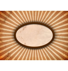 Ellipse frame with rays vector image