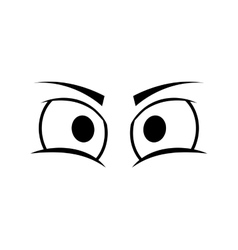 eye angry look vision optical icon vector image