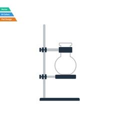 Flat design icon of chemistry flask griped in vector