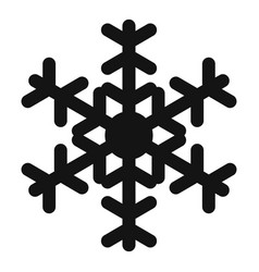 Flower snowflake icon simple style vector