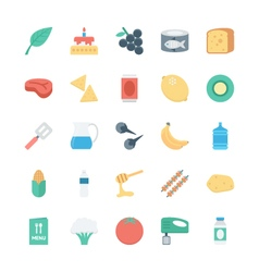 Food Colored Icons 4 vector