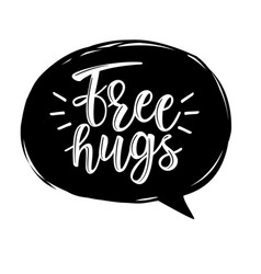 Free hugs lettering vector