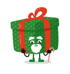gift box old man isolated cute present object vector image