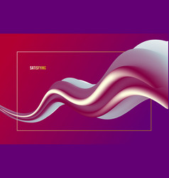 Gradient color 3d fluid shape abstract background vector
