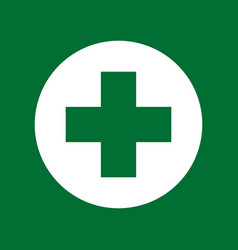 green cross medical symbol vector image