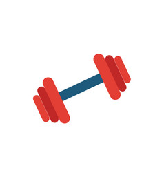 gym icon simple flat element from fitness vector image